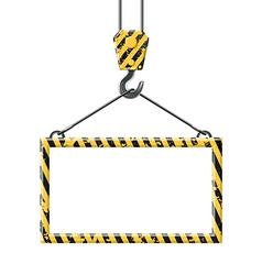 Industrial hook holding frame vector