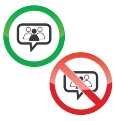 Group leader message permission signs vector