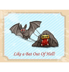 Like a bat out of hell vector