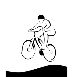 Mountain racer vector