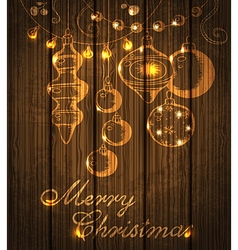 Christmas shining decorations vector