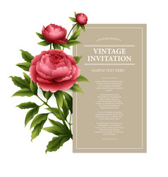 Vintage floral card used as a greeting vector