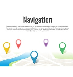 Map with a pin isolated on white vector