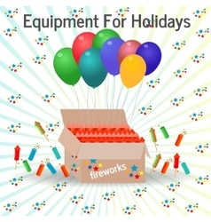 Equipment for holidays vector