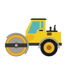 Road roller icon under construction concept vector