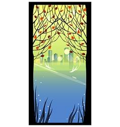 Autumn Park Cityscape vector image