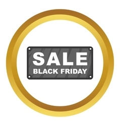 Black friday plate icon vector