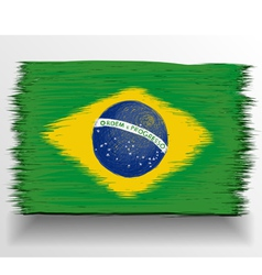 Brazil flag sketch vector image