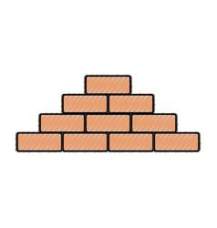 bricks vector image