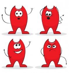 cartoon devils vector image vector image