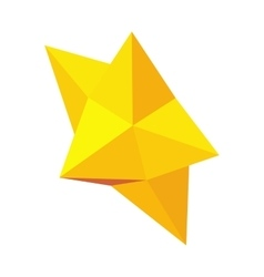 Christmas star icon isometric 3d style vector
