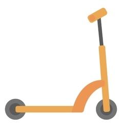 Classic kick scooter vector