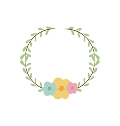 Colorful decorative crown branch floral vector
