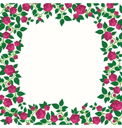 Decorative border with roses vector