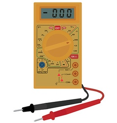 Digital electric multimeter vector
