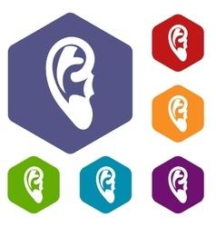 Ear icons set vector