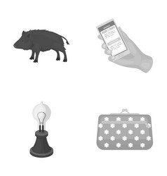 Ecology fauna technologyand other monochrome vector