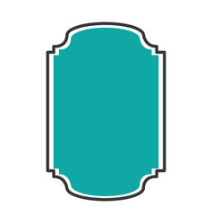 Elegant badge seal icon vector
