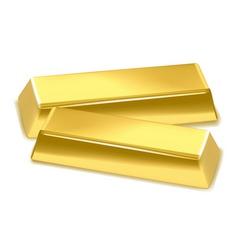 Gold bars vector