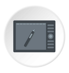 Graphics tablet icon circle vector
