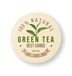 Green tea label vector