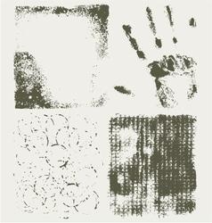 Grunge halftone textures vector image vector image