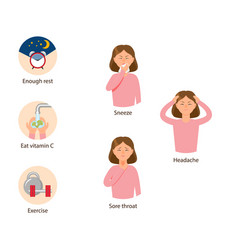 Healthy lifestyle concept girl with fatigue vector