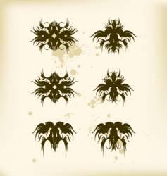 heraldic pattern vector image vector image
