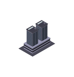 isolated skyscraper isometric tower vector image vector image