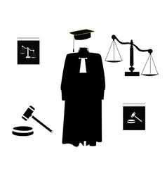 Judicial order items vector