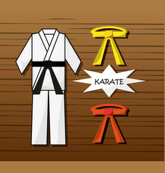 Kung fu sport game to competition vector