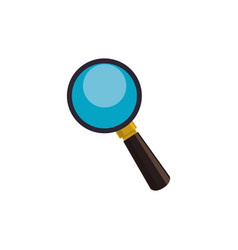 lupe magnifying glass vector image vector image