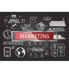 Marketing business plan infographic vector image vector image