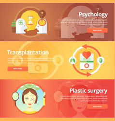 medical and health banners set sexology vector image