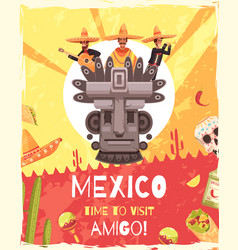 Mexico travel poster vector