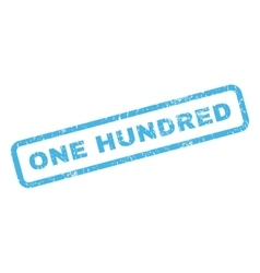 One hundred rubber stamp vector