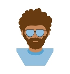 people hipster man icon image vector image