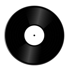 realistic vinyl record isolated vector image