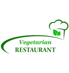 Vegetarian background with chef hat vector
