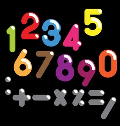 Numbers colorful set vector