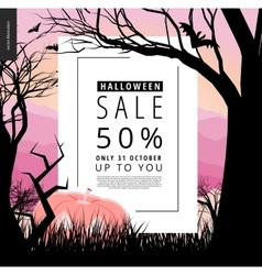 Halloween sale notice poster vector