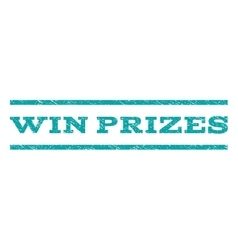 Win prizes watermark stamp vector