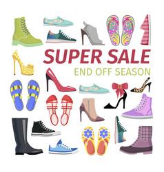 Super sale end off season big shoes collection vector