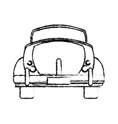 classic car travel image sketch vector image