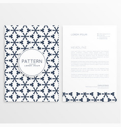 Letterhead front and back design vector