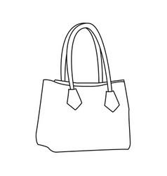 handbag elegant fashion female outline vector image