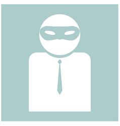 The man incognito in a mask the white color icon vector