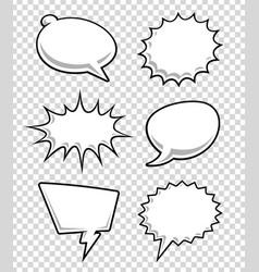 Comic speech bubbles vector