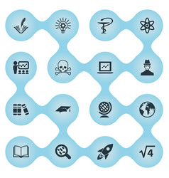 set of simple science icons vector image