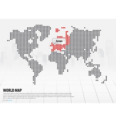 World map with continents europe vector